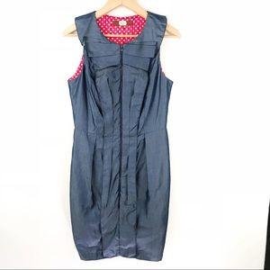 Anthropologie   Eva Franco Front Zip Dress Sz 6